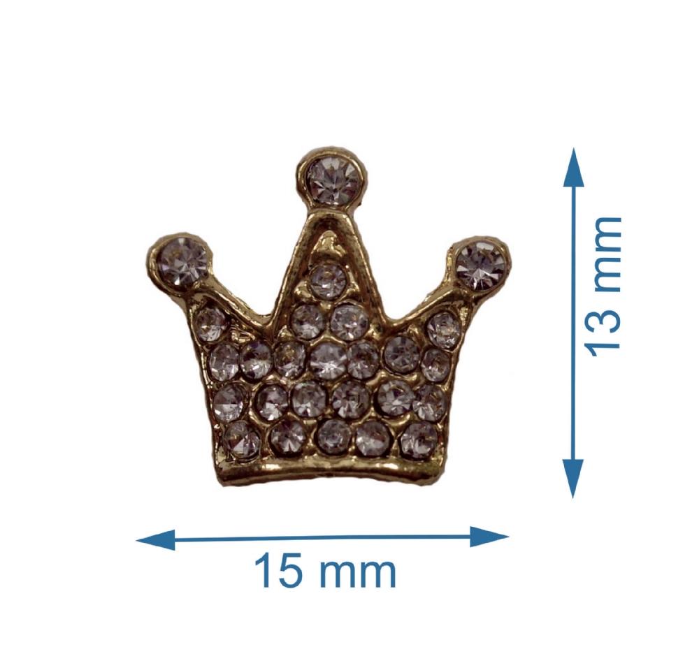 Coroa Dourada com Strass