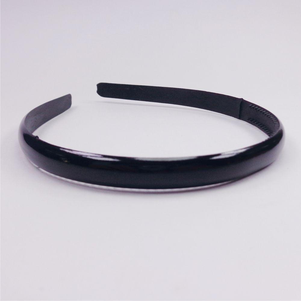Tiara de Plástico - C/ Dentinho Preta - Largura 8 mm