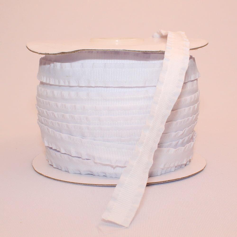 Fita Para Encapar Tiara - 10 mm - Branco - 1 metro