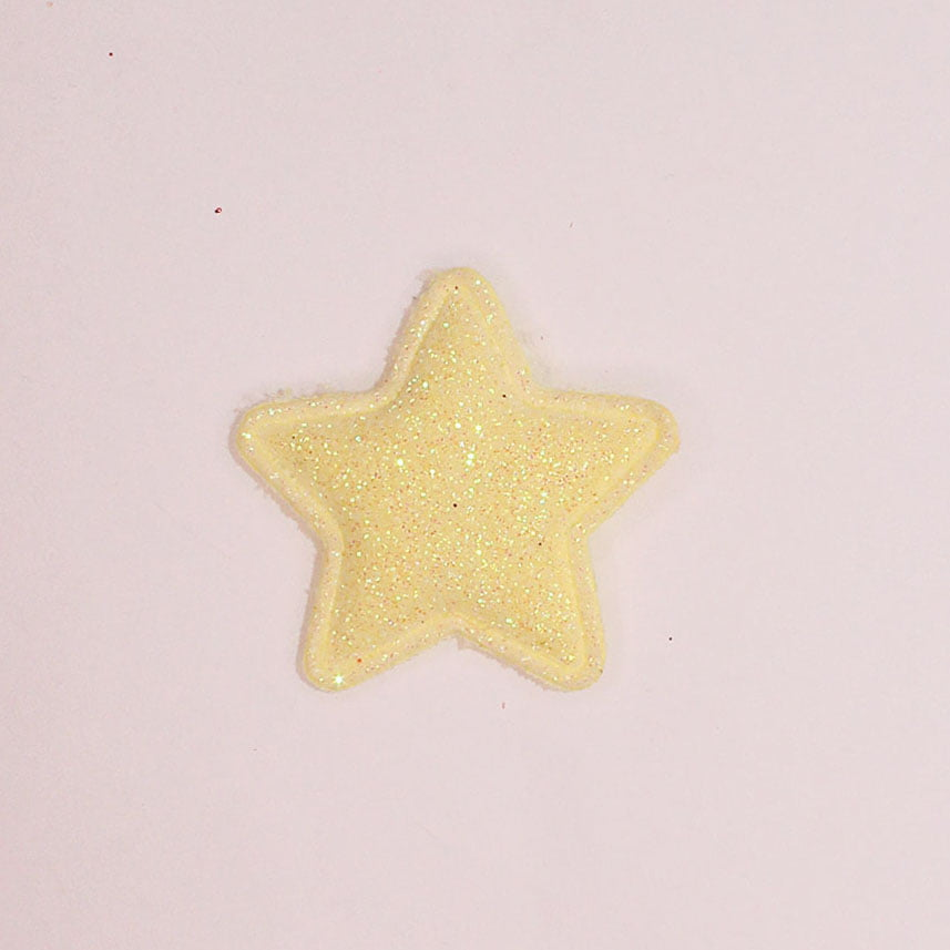 Aplique estrela de brilho - Amarelo
