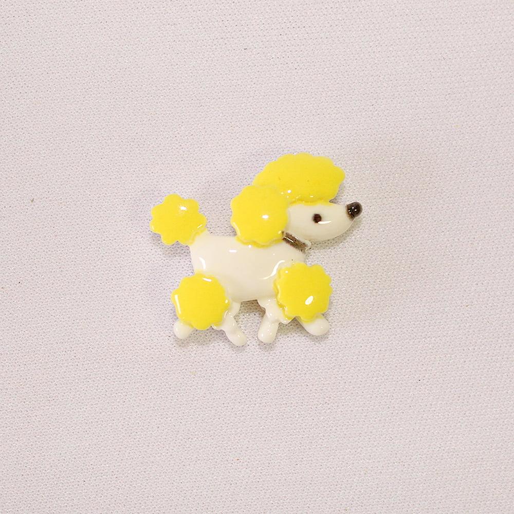 Aplique Resina Poodle Amarelo