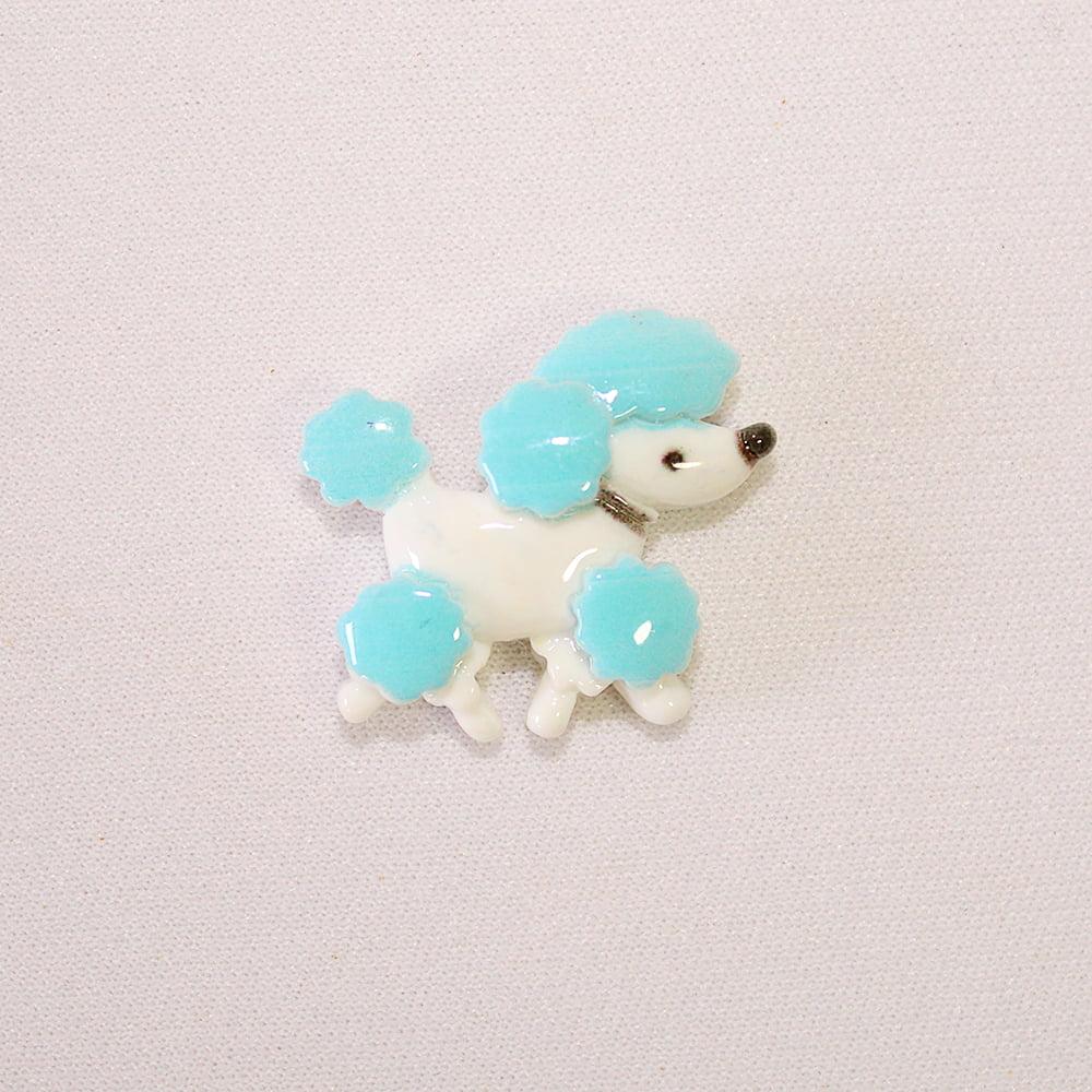 Aplique Resina Poodle Azul