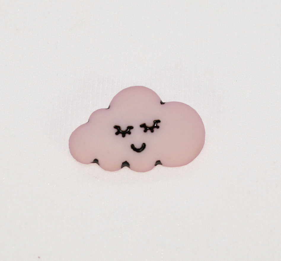 Botão - Nuvem Rosa