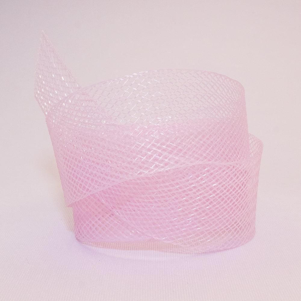 Fita Crinol 25 mm - Rosa Bebê - 1 Metro