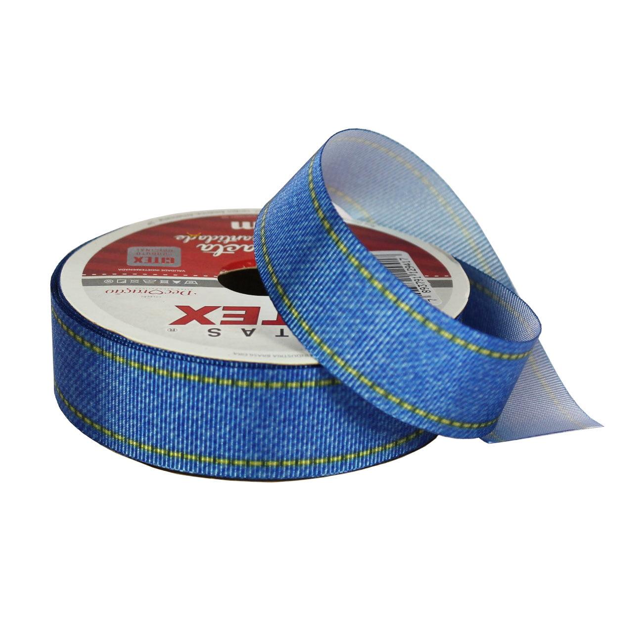 Rolo fita gorgorão - Jeans - 22 mm