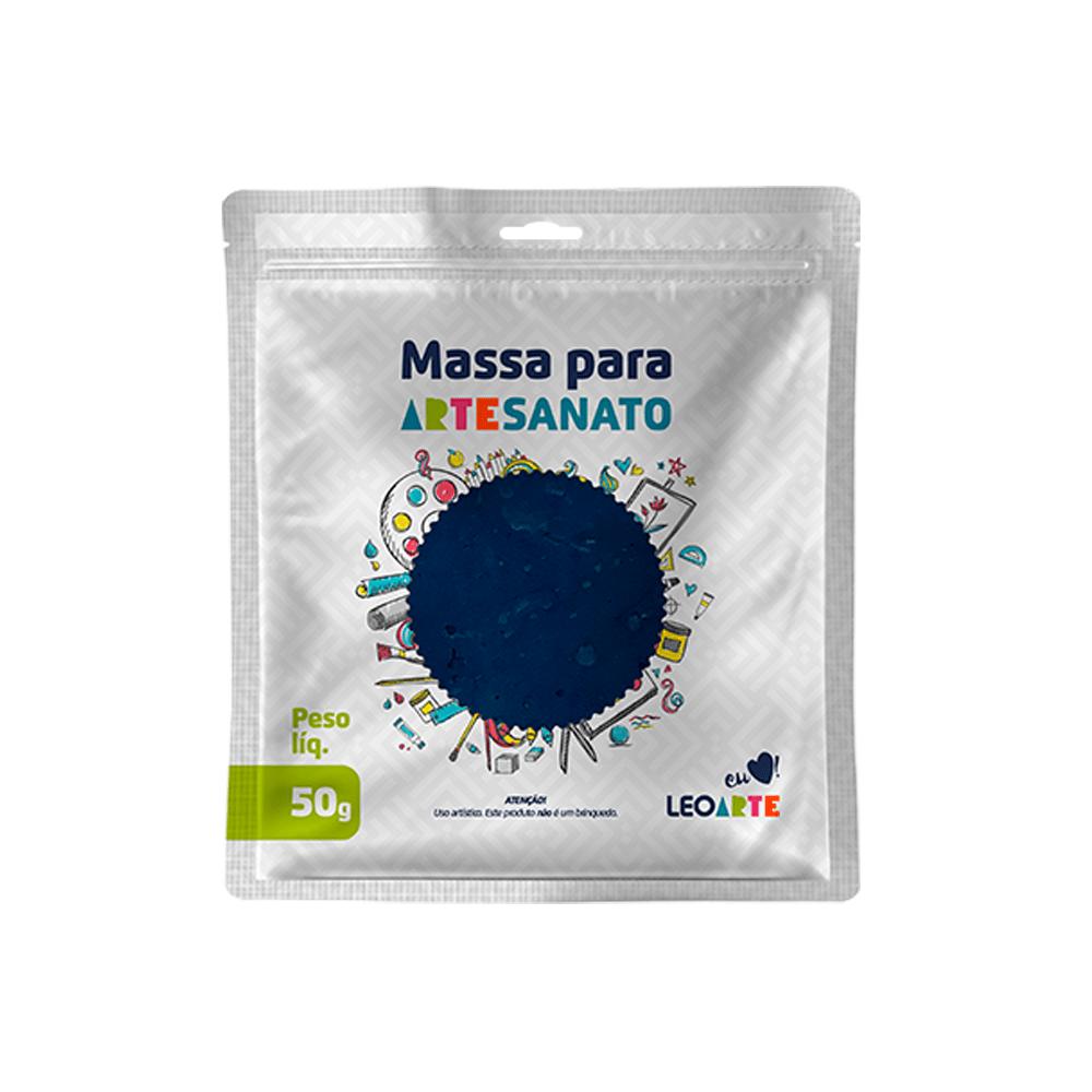 Massa de EVA para artesanato 50 g Leoarte - Azul Escuro