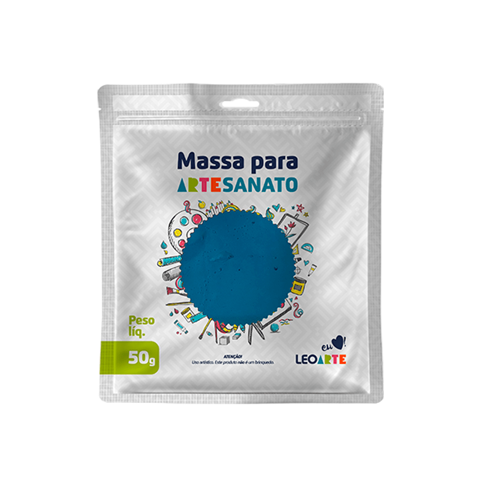 Massa de EVA para artesanato 50 g Leoarte - Azul Piscina