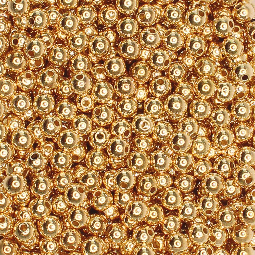 Bola lisa - 5 mm Dourada