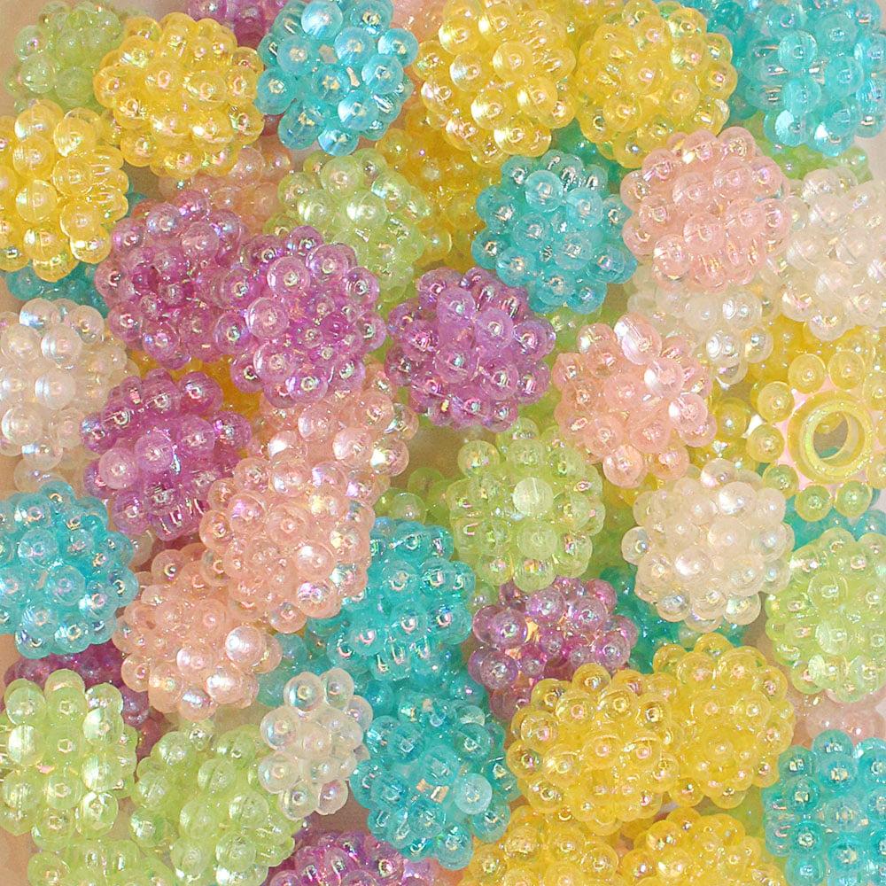 Bola craquelada Translucida Colorida  25 g - 10 mm