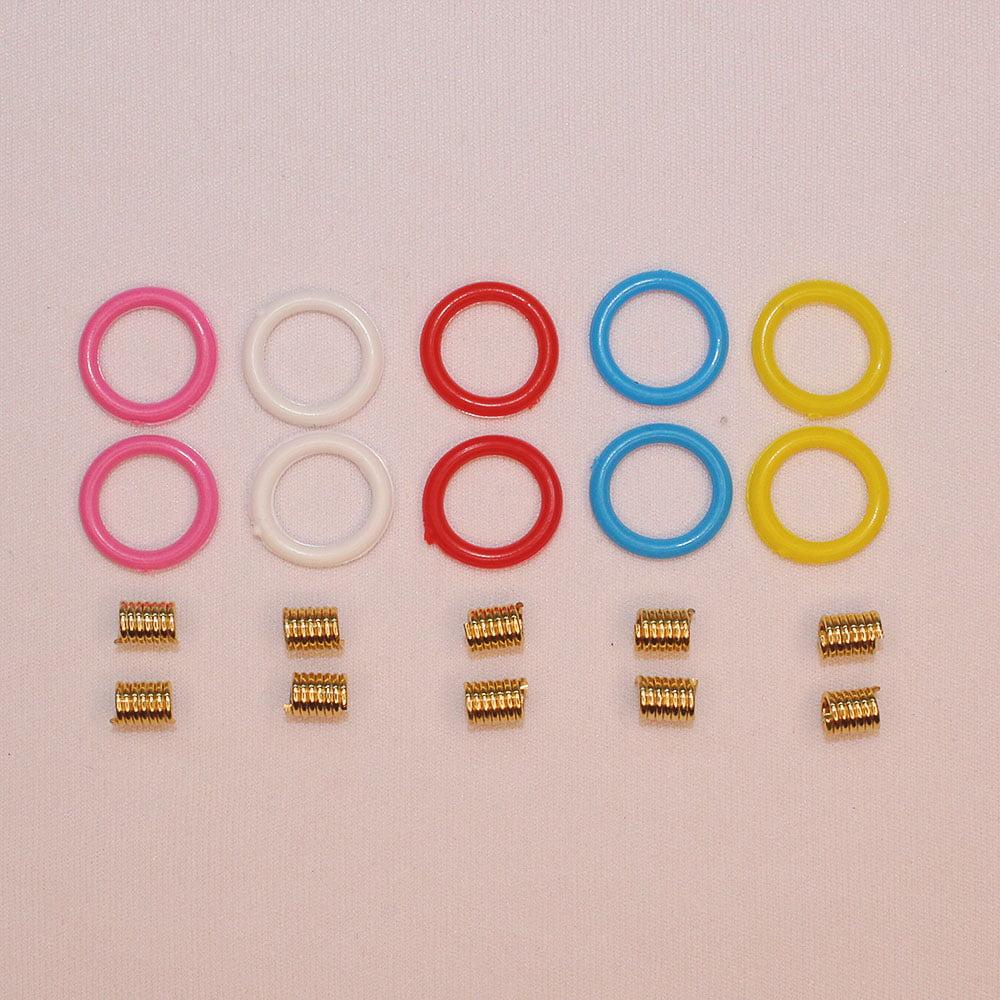 Mola + Borrachinhas para Óculos Coloridas 18 mm