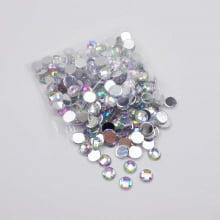 Aplique cristal - 06 mm prata