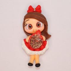 Aplique Biscuit - Bonequinha de Natal