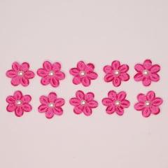 Florzinhas com miolo Pérola 25 mm - Pink