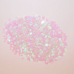 Mini Aplique - Confete Estrela Branco - 5 g