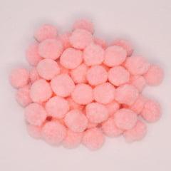 Mini Pompons Rosa Claro - 50 unidades