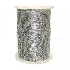Rolo de Fio de Cetim Metálico / cordão de cetim / rabo de rato com 50 metros 1 mm