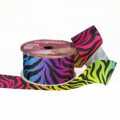 Rolo de fita gorgorão - Zebra Colors - 38 mm