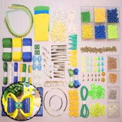 Kit para laços e pulseiras com acessórios e miçangas - Olimpíadas