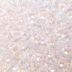 Bola Lisa Irisada Translucida - 10 mm Transparente