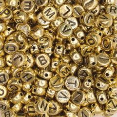 Miçangas letra - Dourado - 50 g