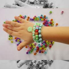 Kit de miçangas para confecção de pulseiras - Verde