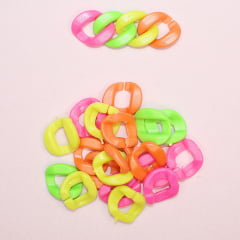 Elo torcido de plástico - Neon Colorido- 20 g