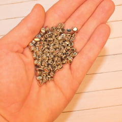 Entremeio Prata Oval - 6 mm x 4 mm - 10 gramas