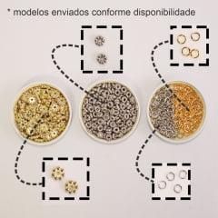 Kit de miçangas e pérolas para pulseiras