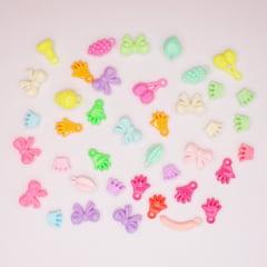 Kit de miçangão colorido para pulseiras e colares infantis
