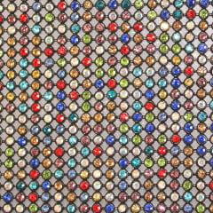 Manta Preta Strass Colorido 10 cm x 22 cm
